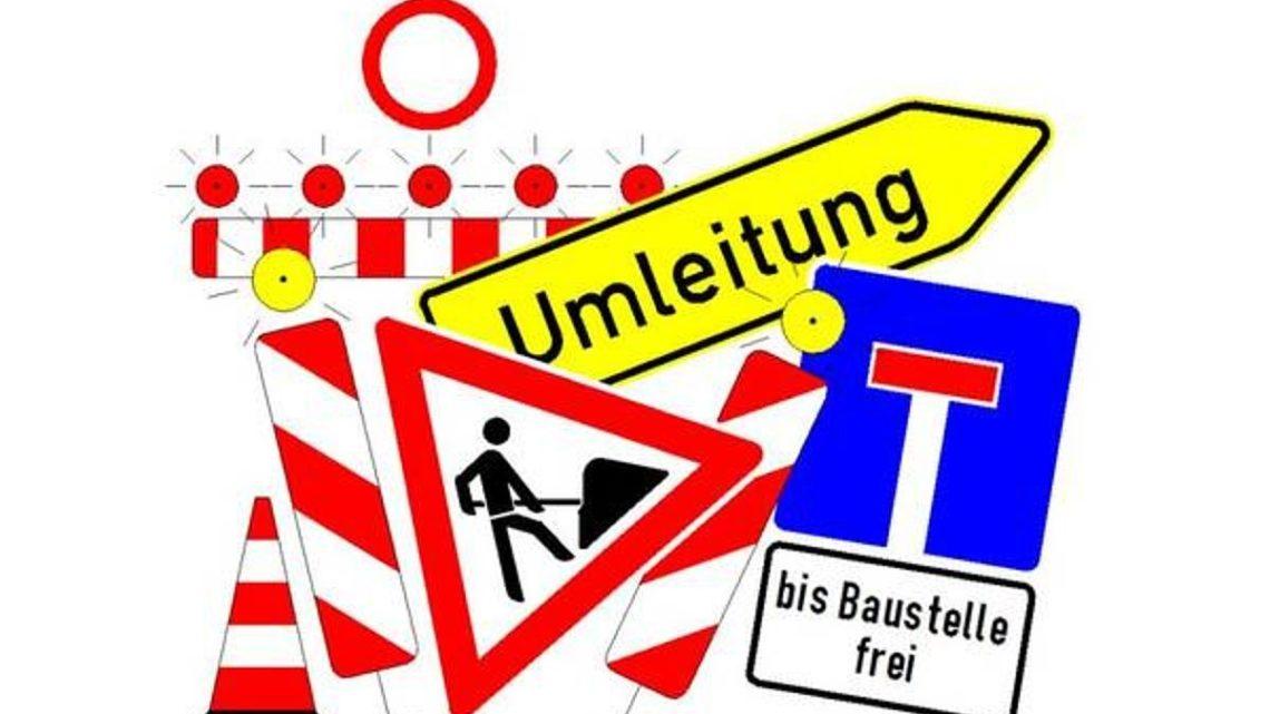 Straßensperrung – Waldstraße
